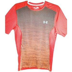 Under Armour red and black fitted shirt